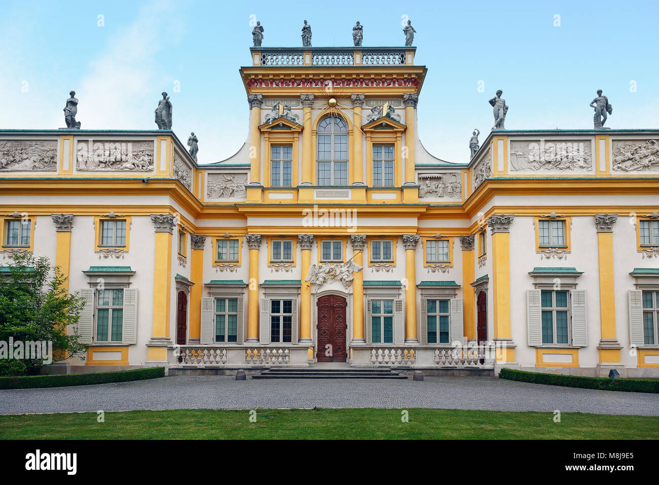 Front view (west-side) of the Royal Castle built for the Polish king John III Sobieski, residence of the Polish Stock Photo