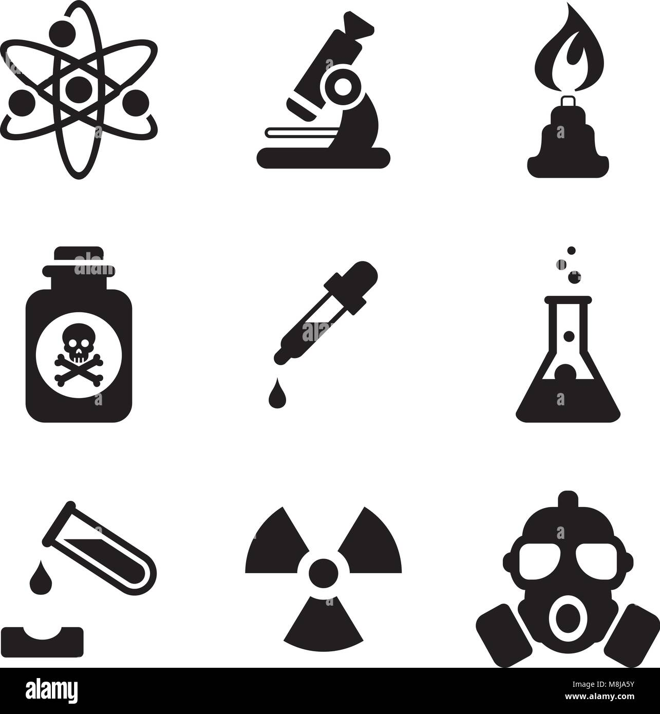 Chemistry Icons Stock Vector