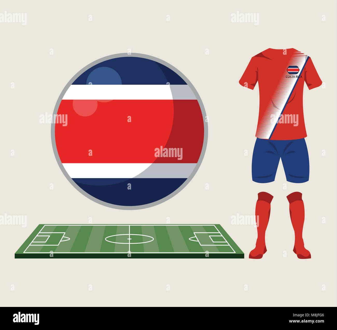 191ea3a05dd Football costa rica sport wear vector illustration graphic design ...