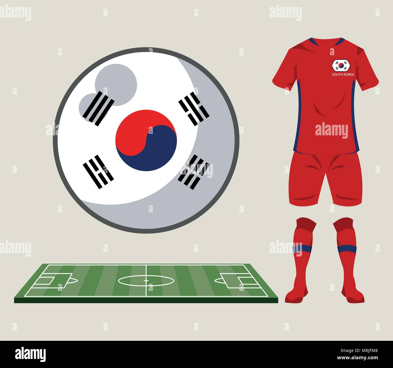 c689fd1a5a0 Football south korea sport wear vector illustration graphic design - Stock  Image