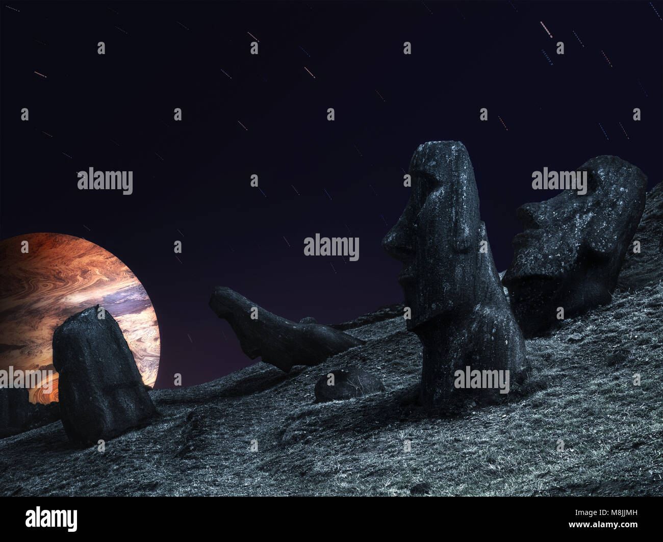 Latin America, Chile, Easter island, October, 2012. - Stock Image