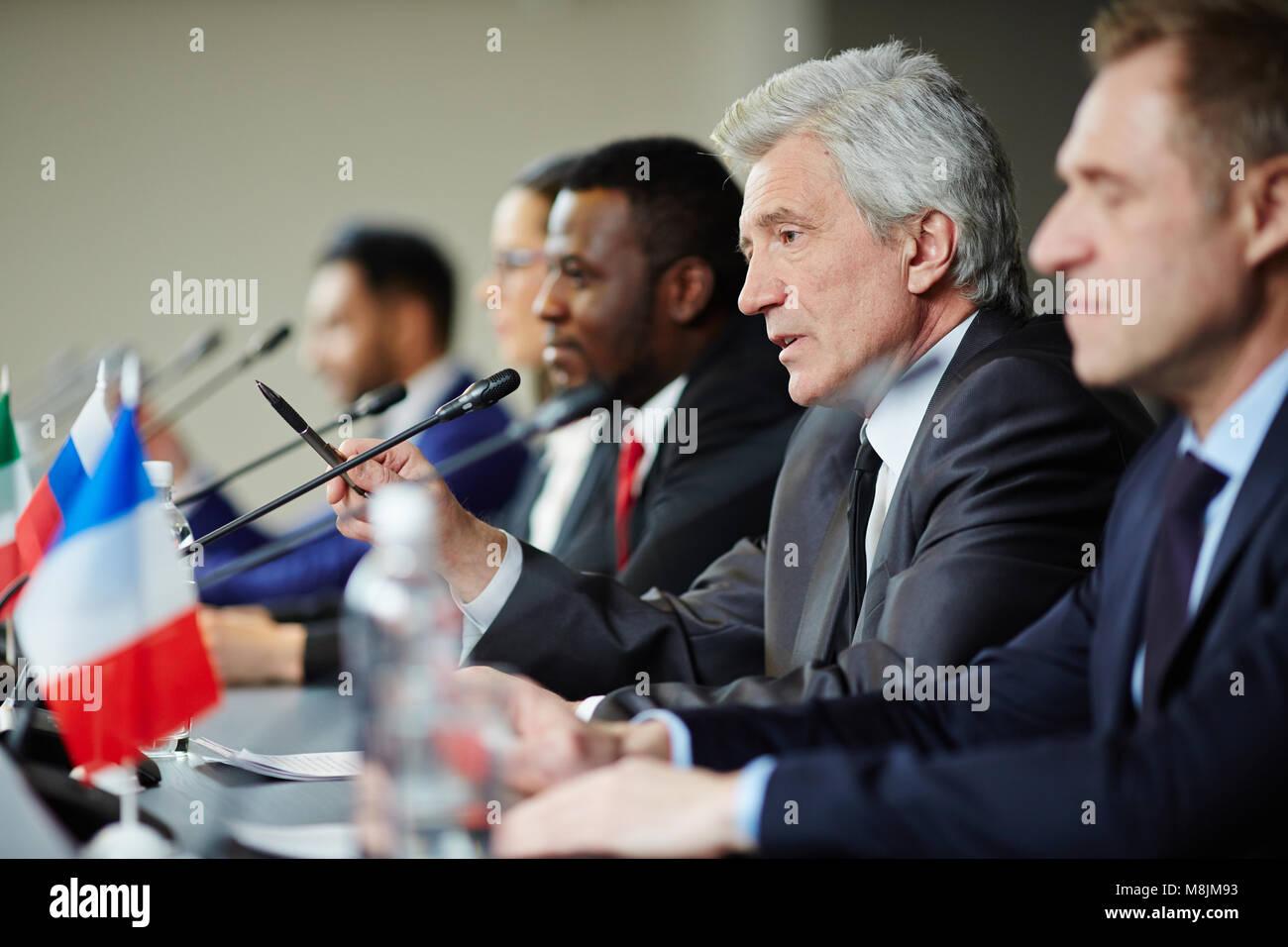 Speech of delegate - Stock Image