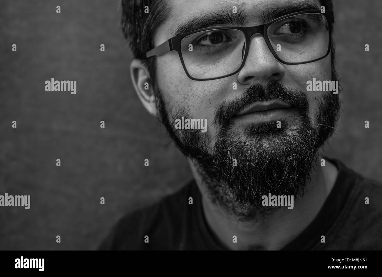 portrait of a man with glasses - Stock Image