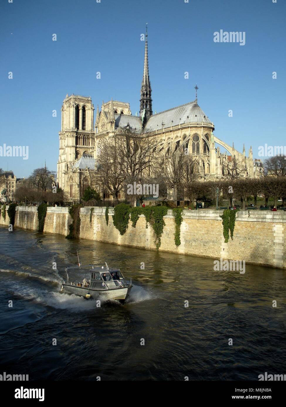 Notre-Dame de Paris, France. - Stock Image