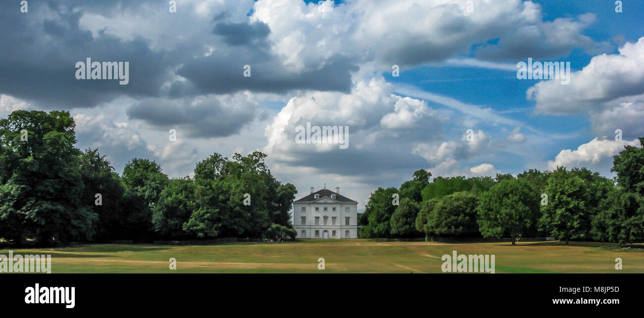 Marble Hill House is a beautiful Palladian villa is set in 66 acres of outstanding riverside parkland near Richmond - Stock Image