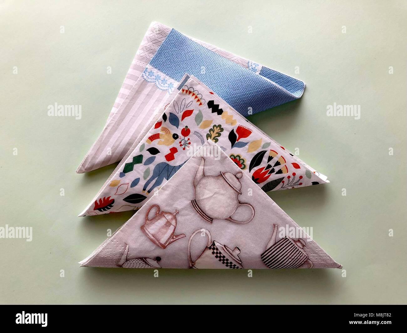 napkins cute tree - Stock Image
