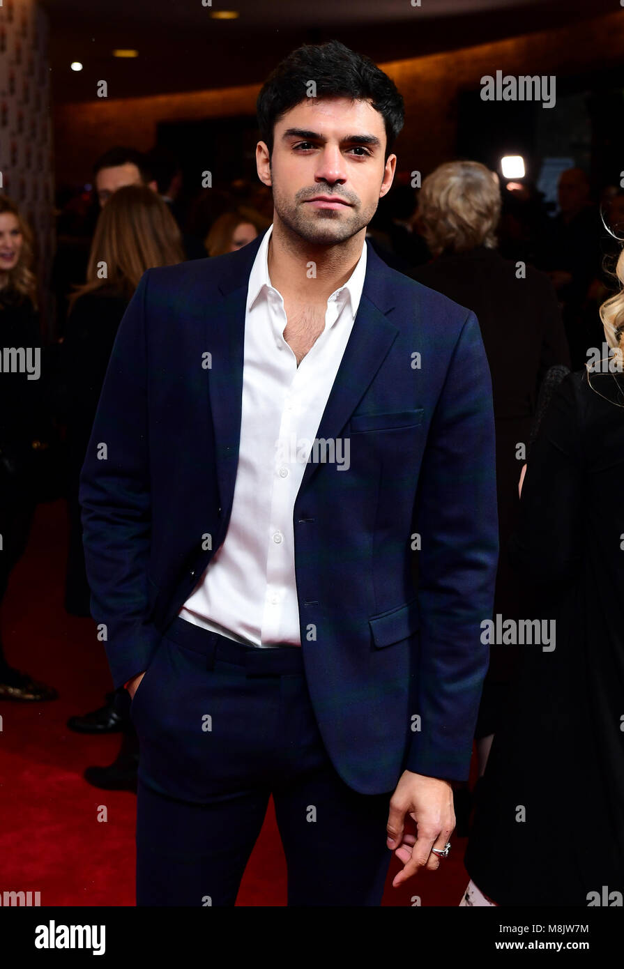 Sean Teale attending the Rakuten TV Empire Awards 2018 at the Roundhouse, London. - Stock Image
