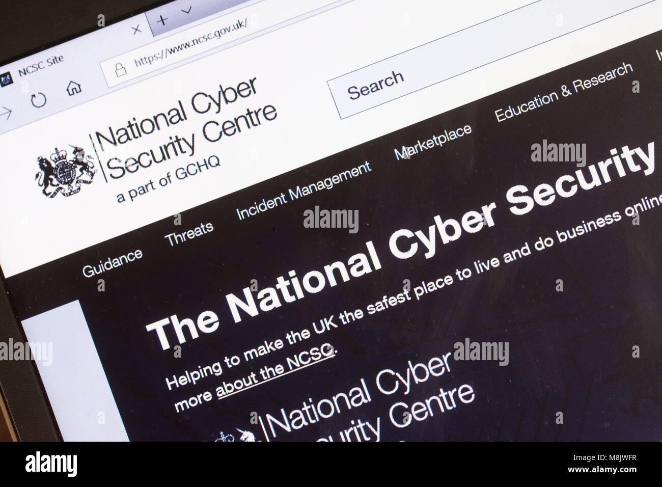 Computer screenshot of NCSC.gov website (National Cyber Security Centre) - Stock Image