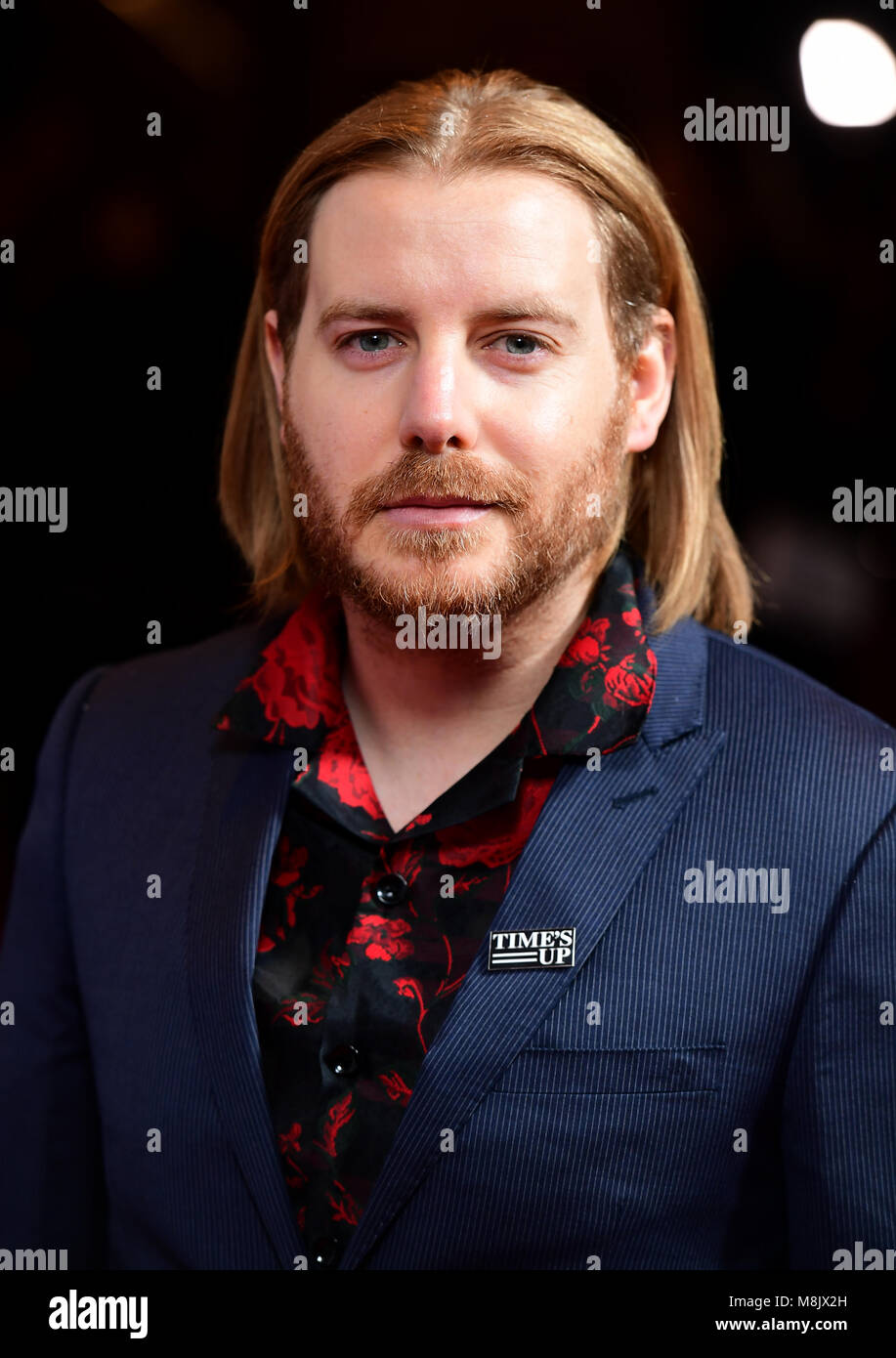 Christian Brassington attending the Rakuten TV Empire Awards 2018 at the Roundhouse, London - Stock Image