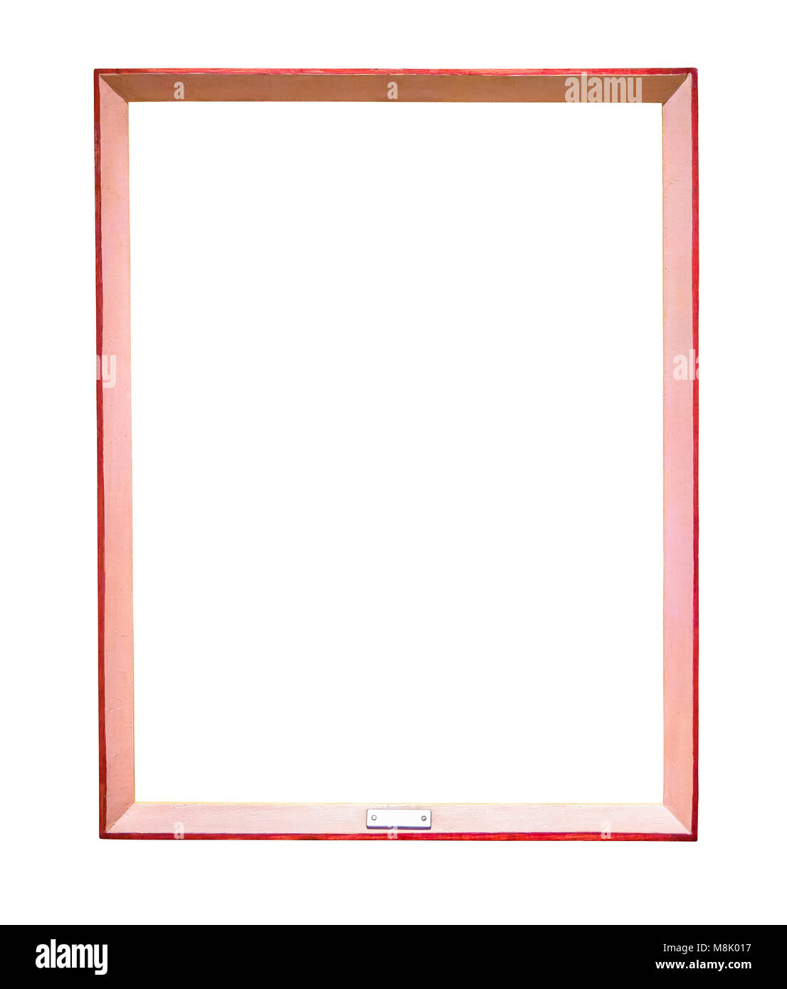 Red picture frame isolated on white background with clipping path Stock Photo