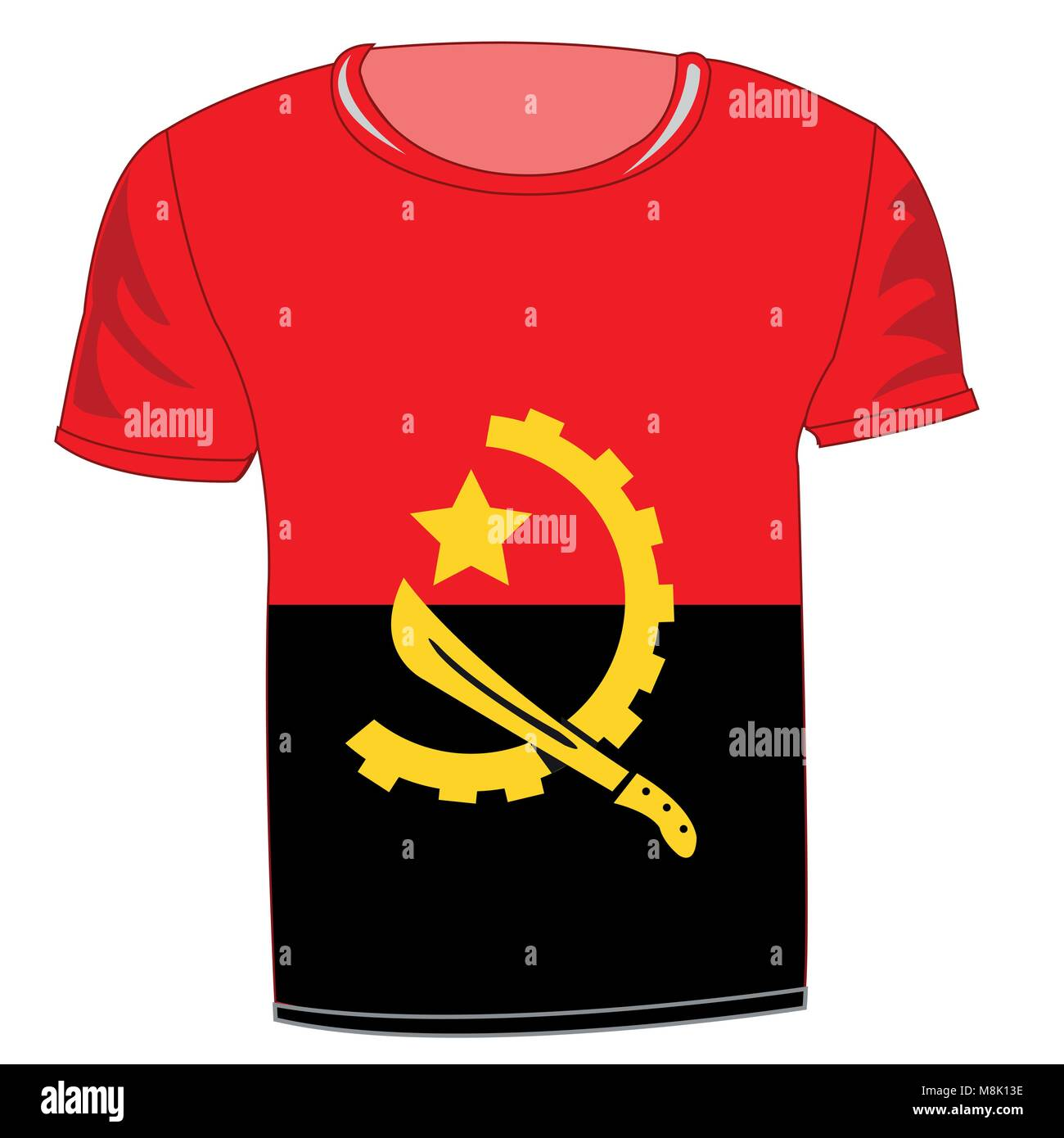 T-shirt flag Angola - Stock Vector