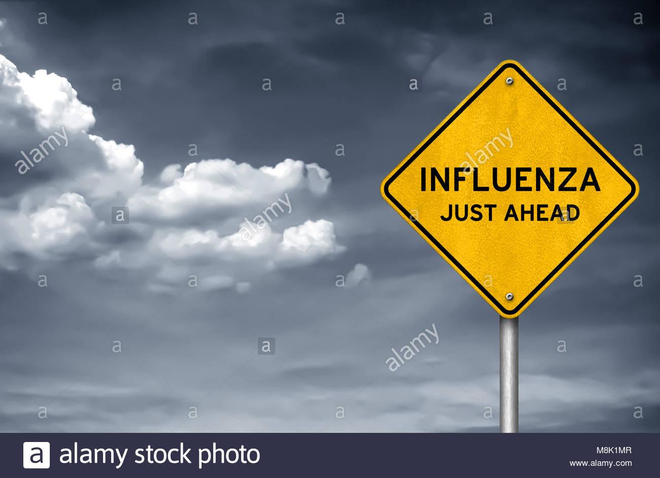 INFLUENZA - just ahead - Stock Image