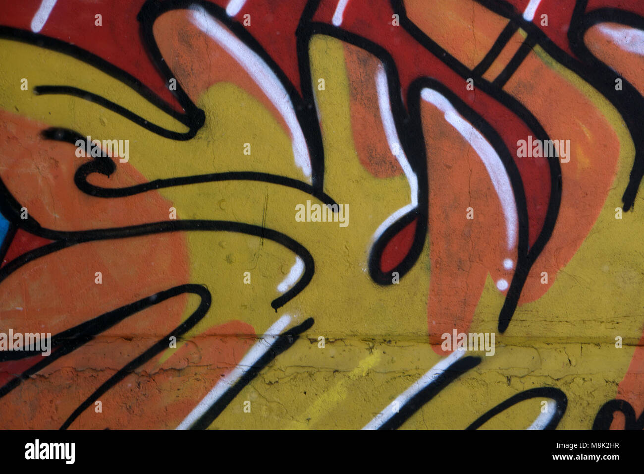 Graffity wall. Abstract detal of Urban street art design close-up ...