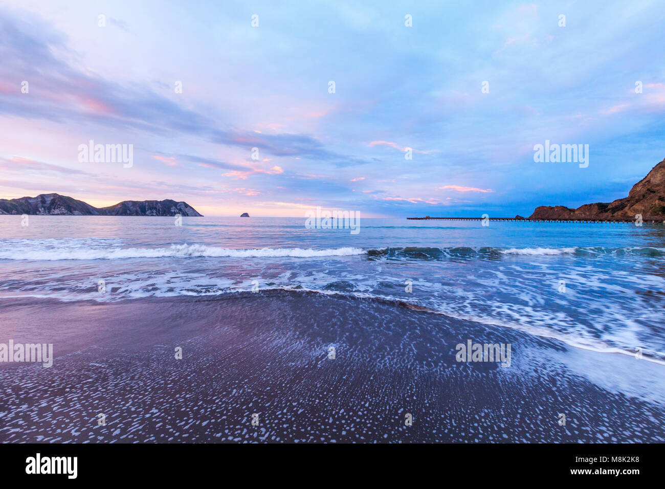 Tolaga Bay and New Zealand's Longest Pier - Stock Image