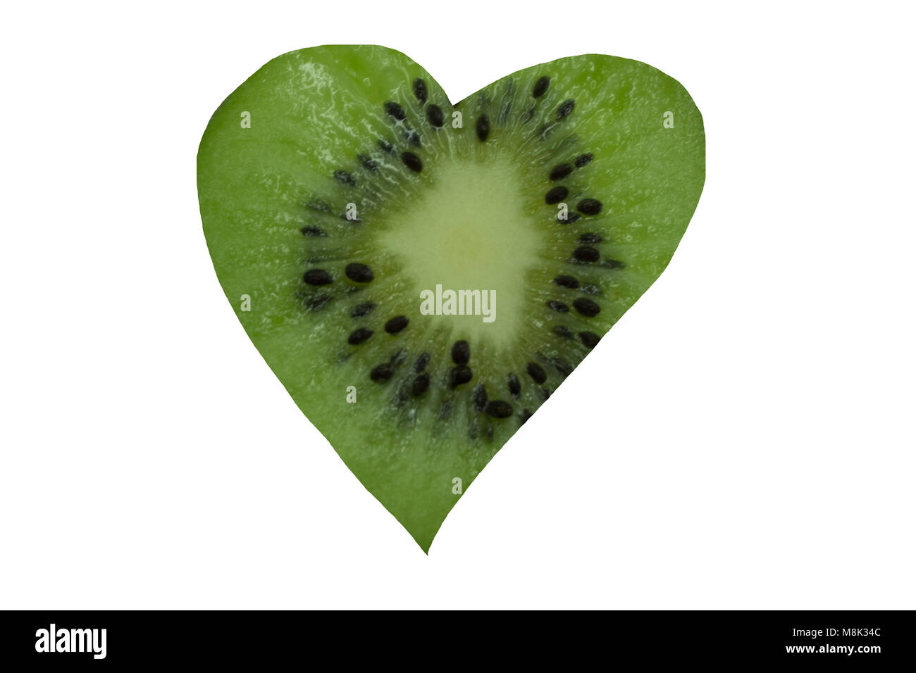 heart cardiovascular with heart-shaped, garlic - Stock Image