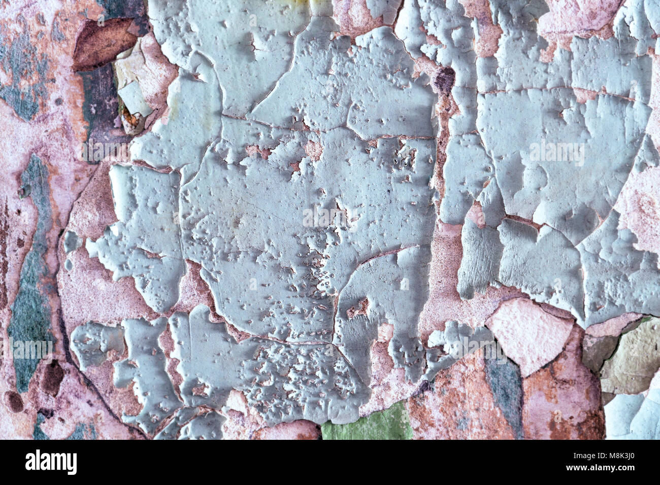 Peeling Paint On A Cement Wall   Stock Image