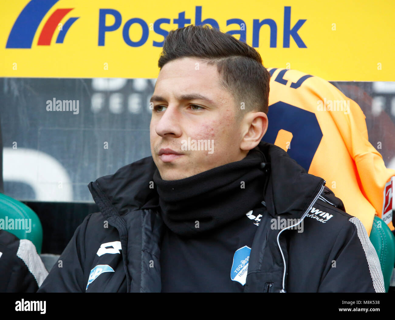 sports,football,Bundesliga,2017/2018,Borussia Moenchengladbach vs TSG 1899 Hoffenheim 3:3,Stadium Borussia Park,substitutes - Stock Image