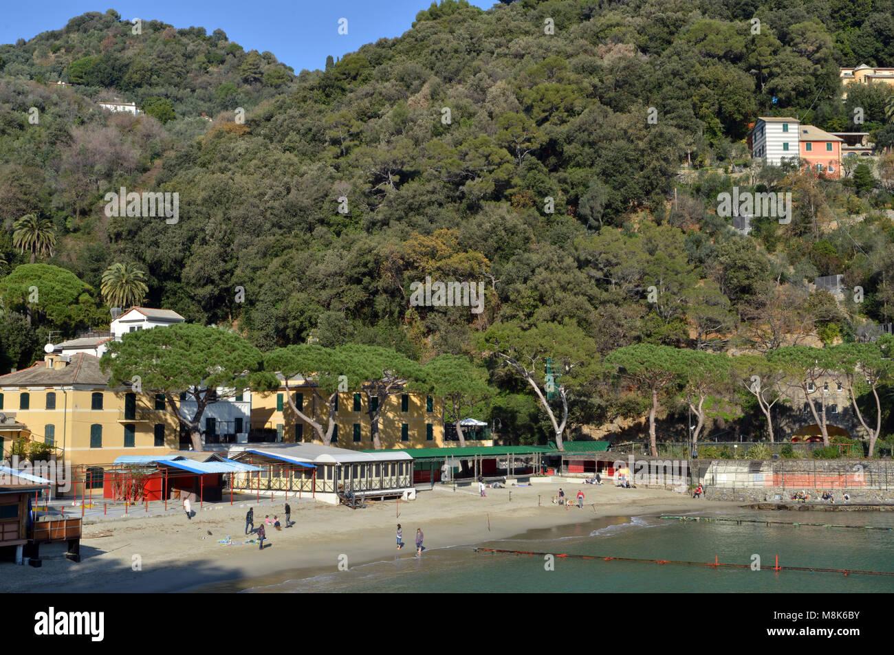 Italy bay beach paraggi italian stock photos italy bay beach