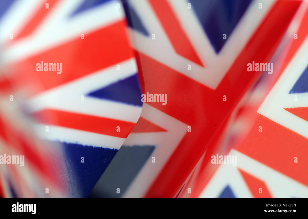 union jack dart flights Stock Photo