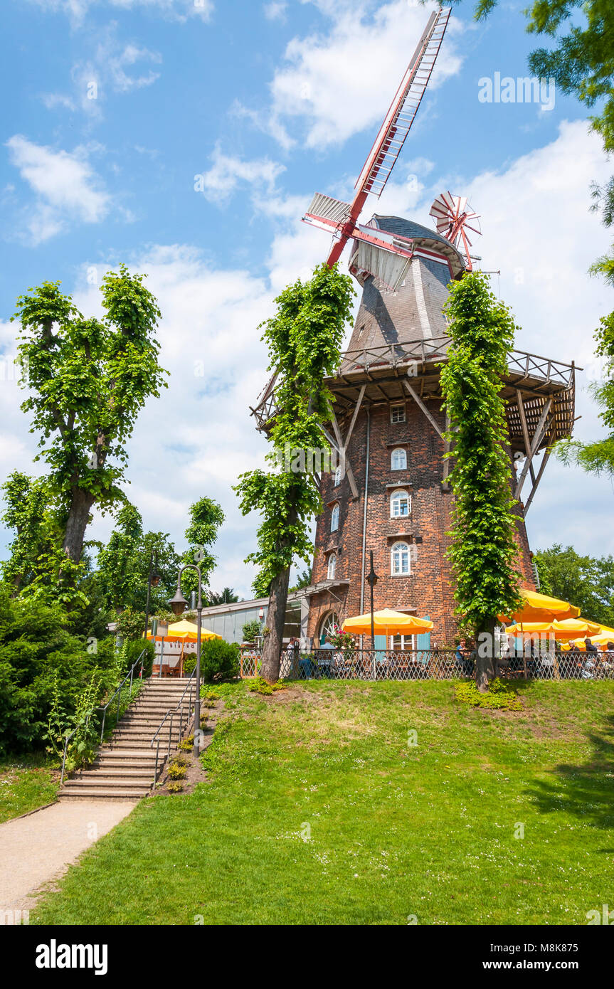 Bremen, Germany - June 12, 2011: If you are strolling from the main station to the city centre of Bremen, the first - Stock Image