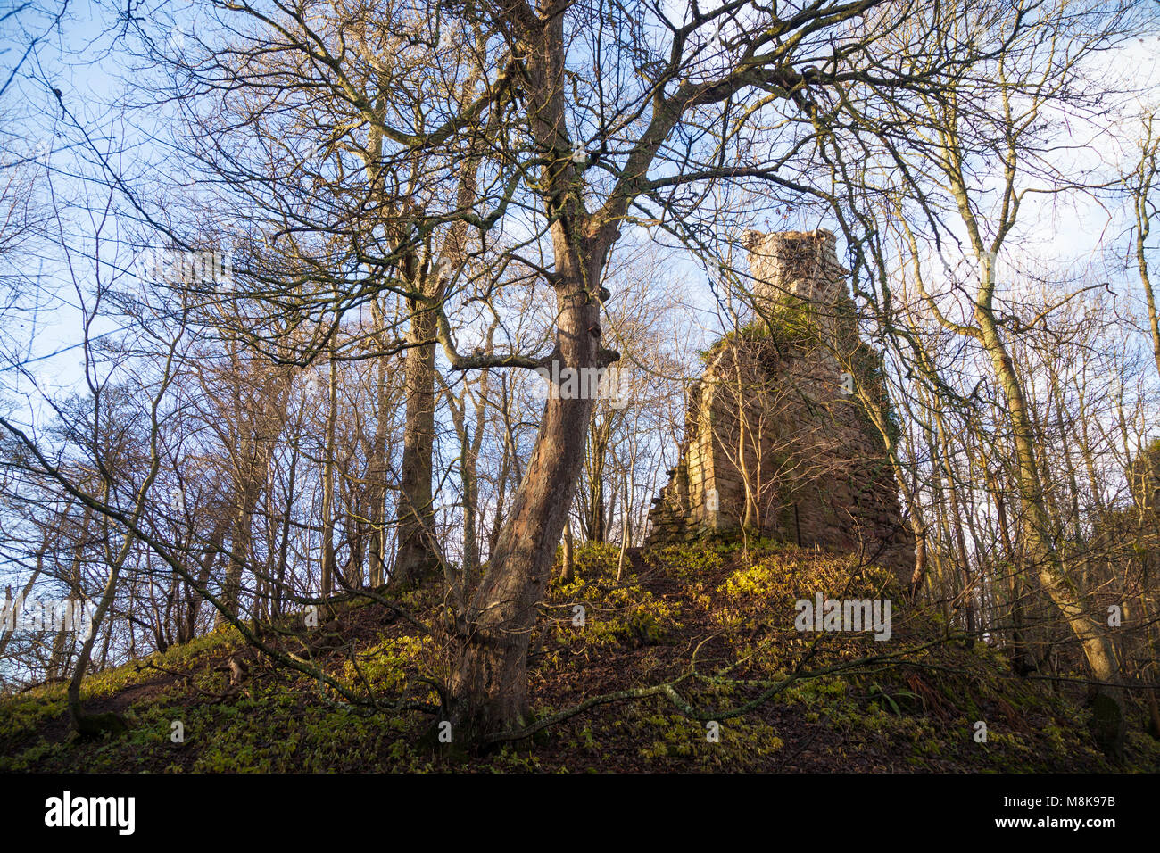 The remains of Yester Castle near Haddington East Lothian Scotland. - Stock Image