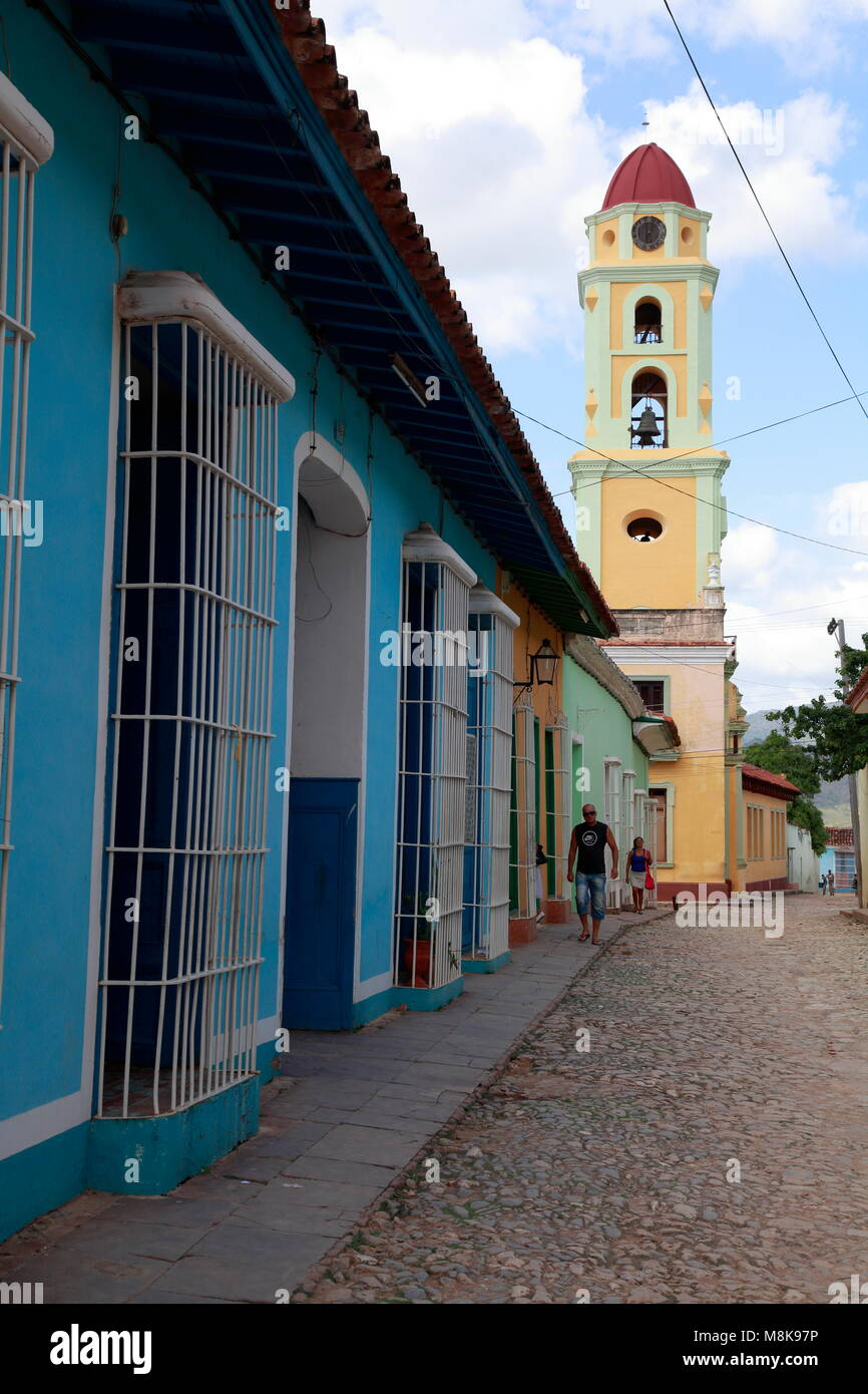 Church Tower, Trinidad, Cuba Stock Photo