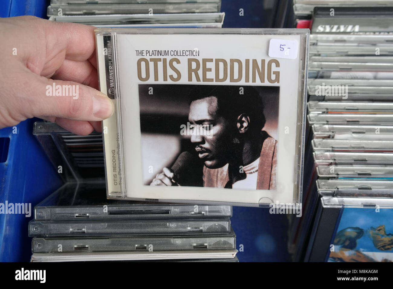 CD of the American singer, songwriter, record producer, arranger, and talent scout: Otis Redding - Stock Image