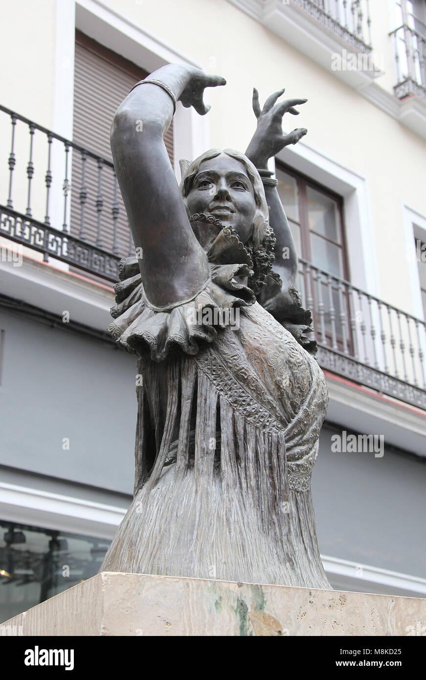 Monument to Pastora Imperio in Seville - Stock Image