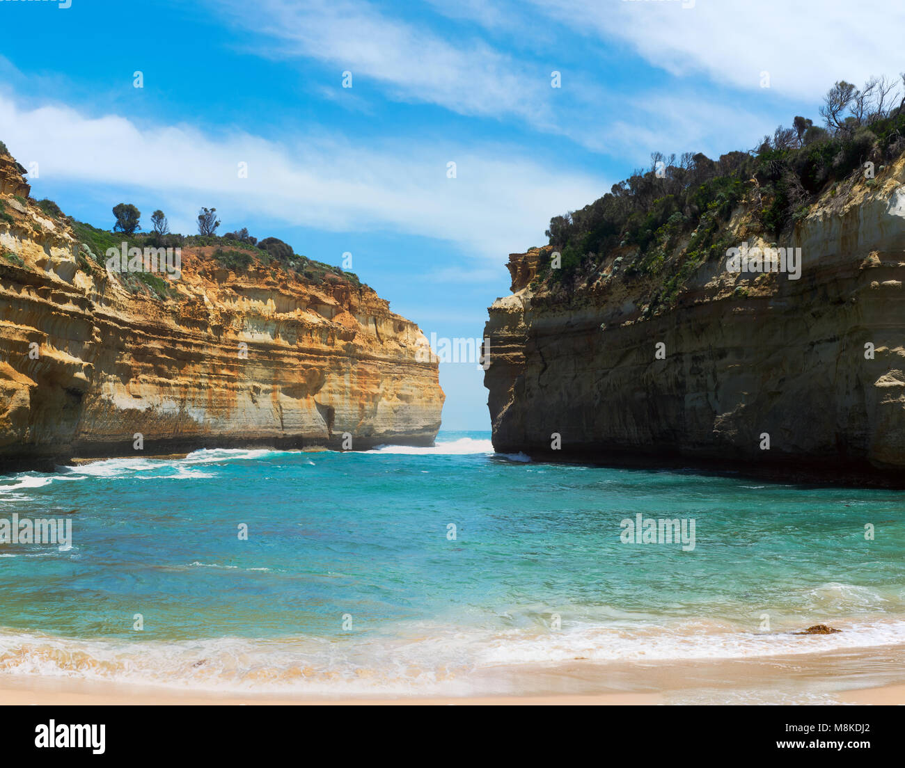 A photo of Loch ard Gorge - one of the famous rocks in Victoria, Australia. - Stock Image