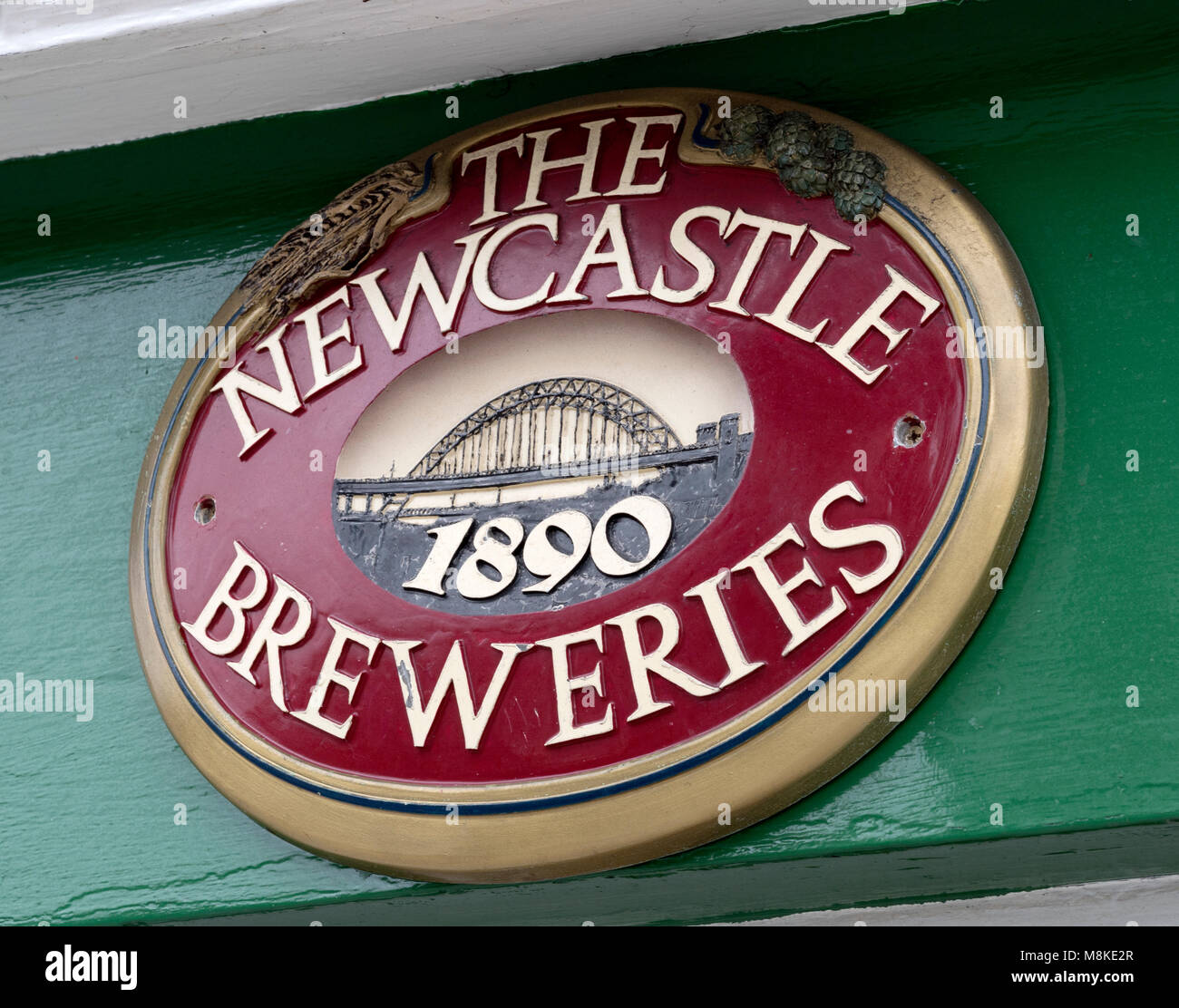 Plaque advertising The Newcastle Breweries Ltd. - Stock Image