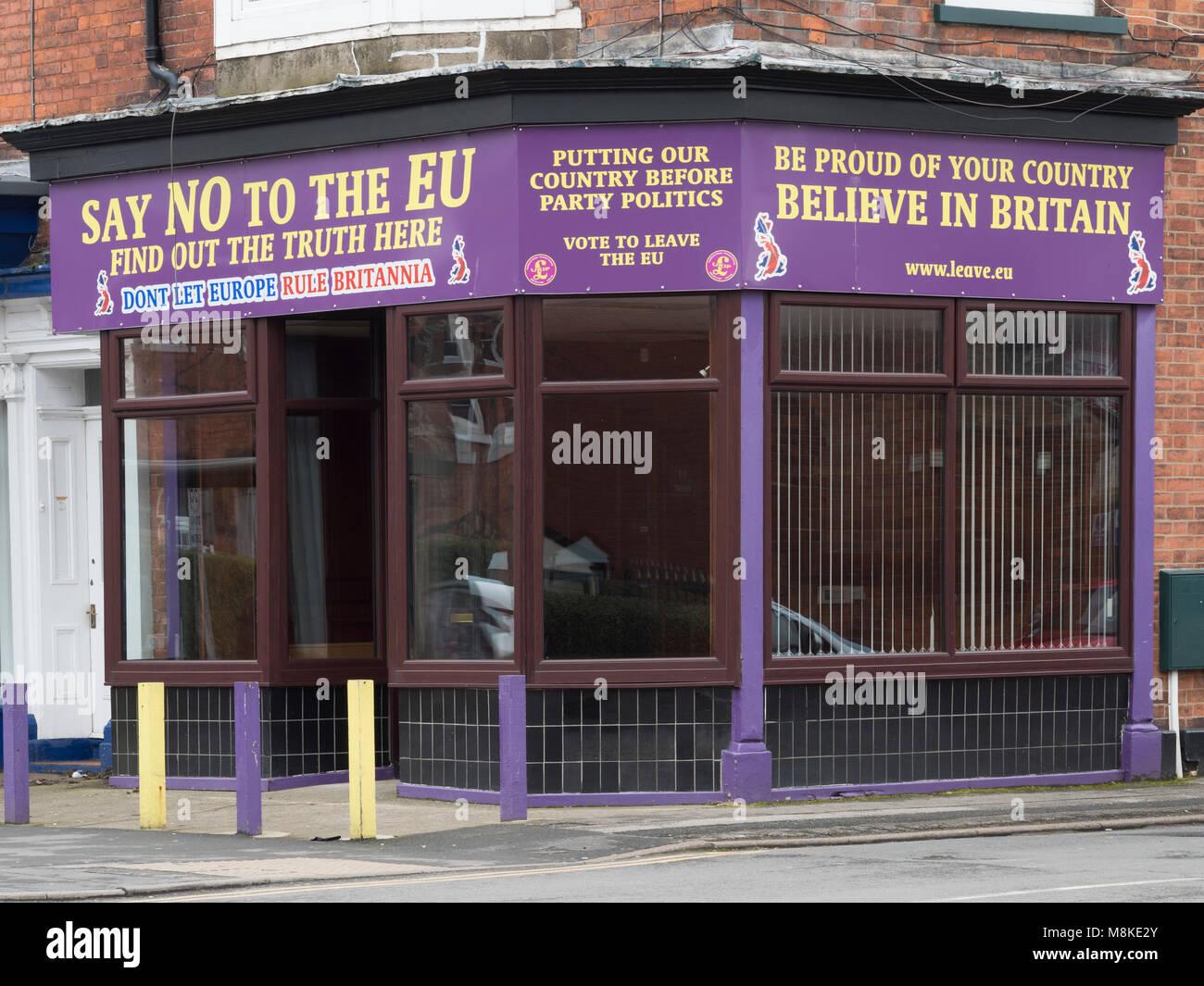 The UKIP offices at Bridlington, no longer used, Bridlington, Yorkshire, England, UK - Stock Image