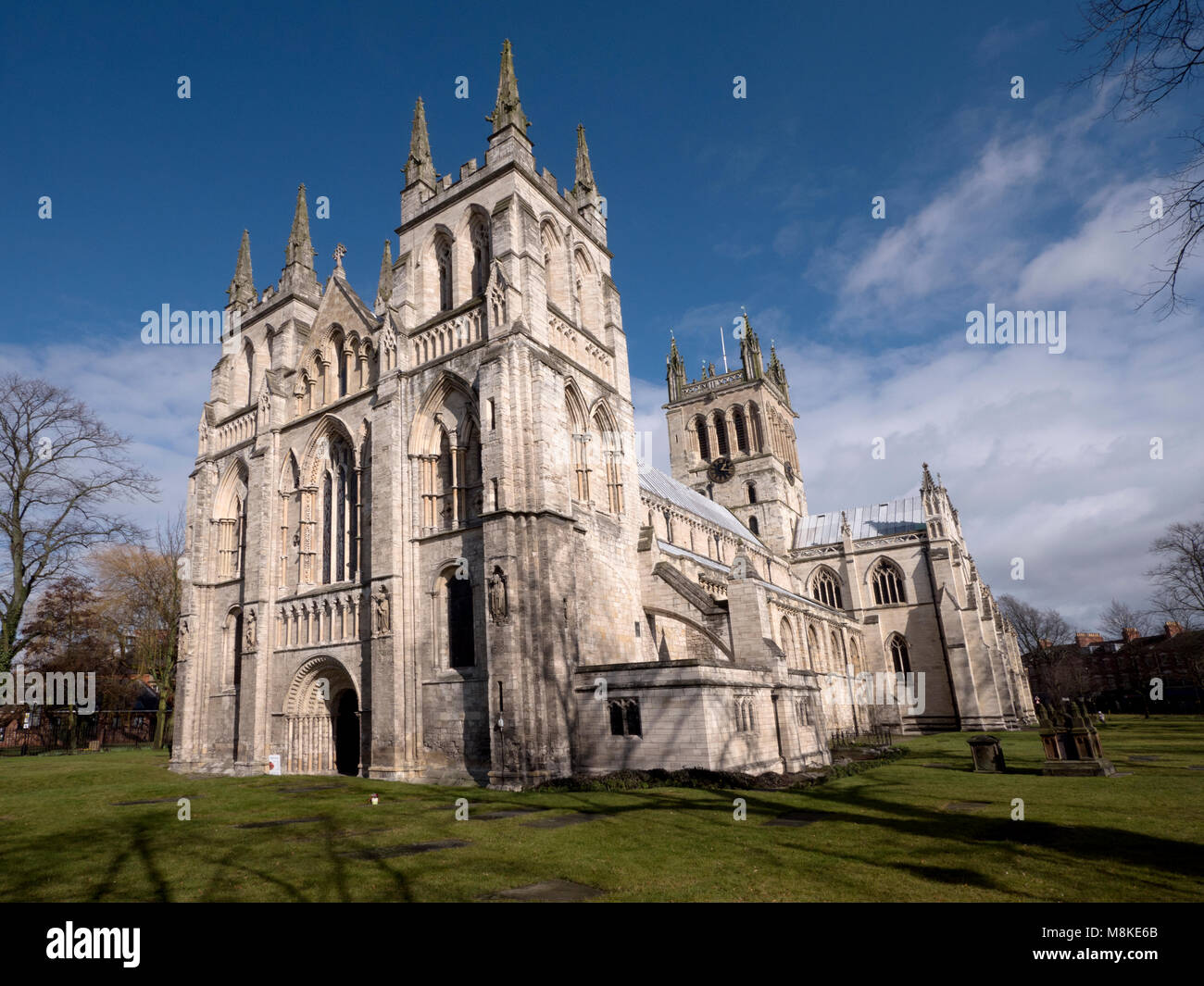 Selby Abbey, Selby, Yorkshire, England, UK - Stock Image