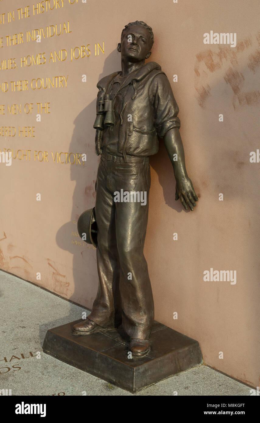 U.S.S. San Diego (CL-53) Memorial by Eugene Daub & Louis Quaintance, San Diego, California, USA - Stock Image