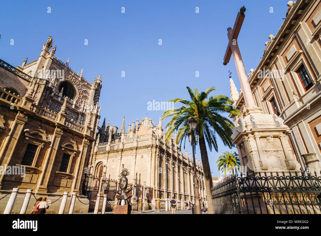 Seville, Andalusia, Spain : Unesco listed Cathedral of Seville, the largest Gothic structure in the world and General - Stock Image