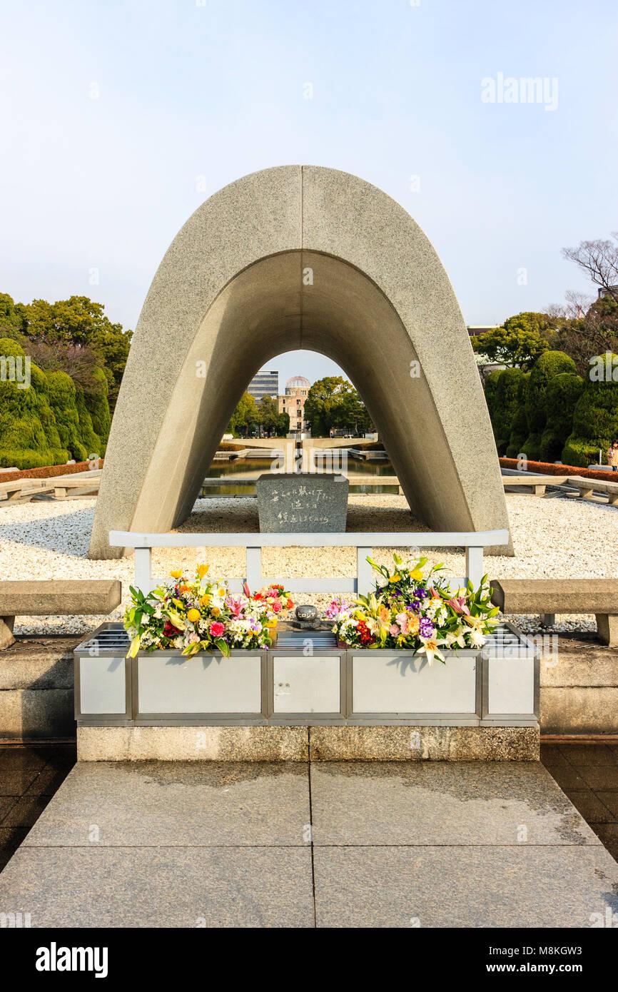 Japan, Hiroshima  Cenotaph for Atomic Bomb Victims, the Memorial