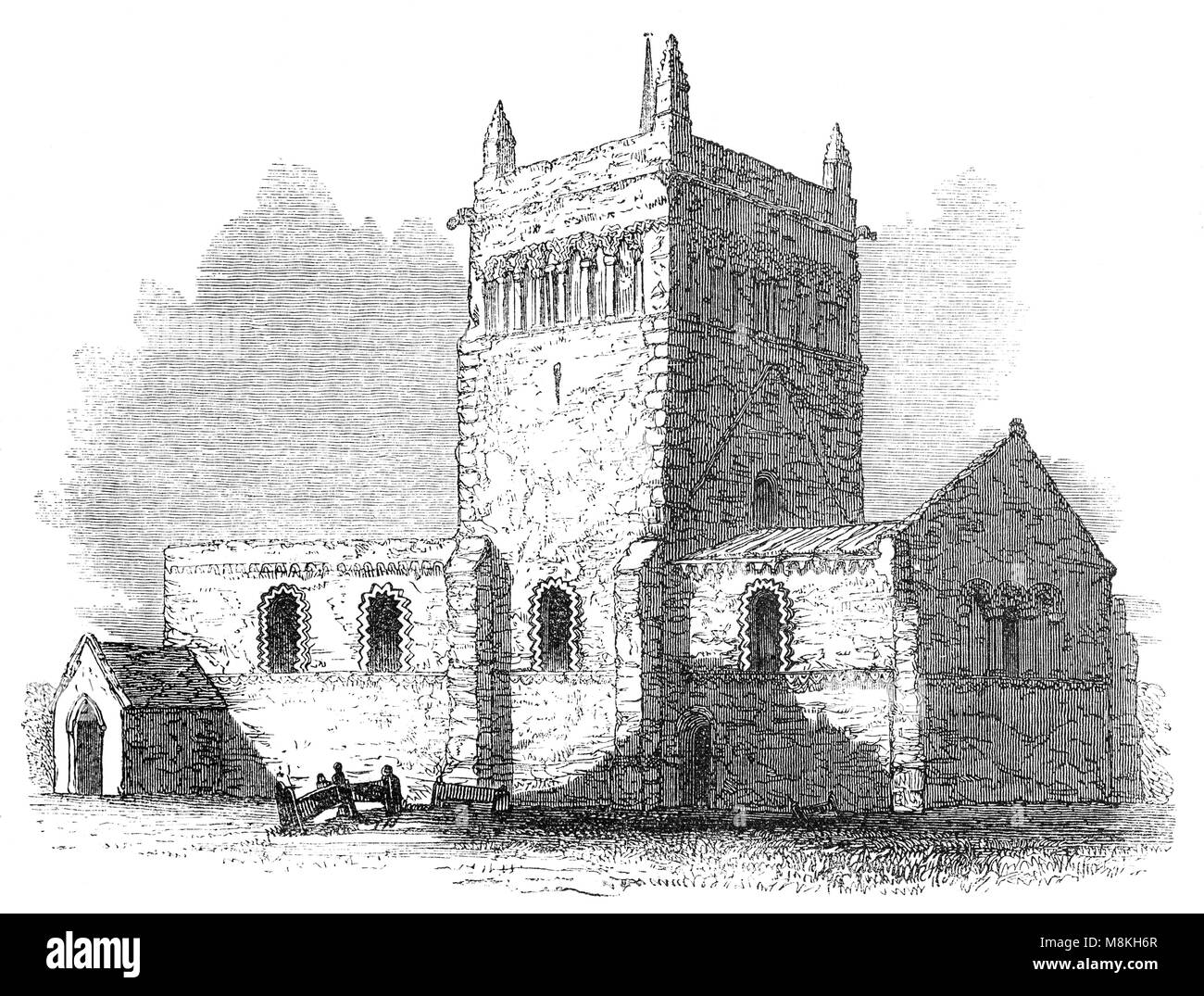 The Church of England parish church of 'St Michael and All Angels' in Stewkley, in the Aylesbury Vale district - Stock Image