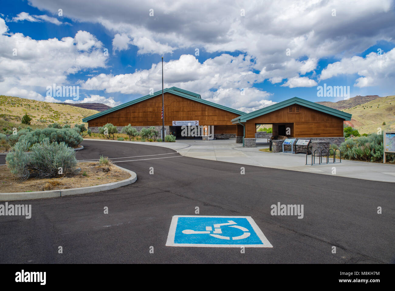 The Thomas Condon Paleontology Center is in the John Day Fossil Beds in Wheeler County Oregon - Stock Image