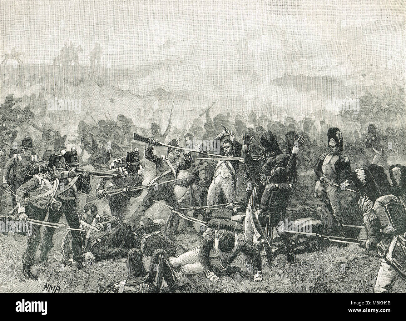 The Battle of Waterloo, 18 June 1815 - Stock Image