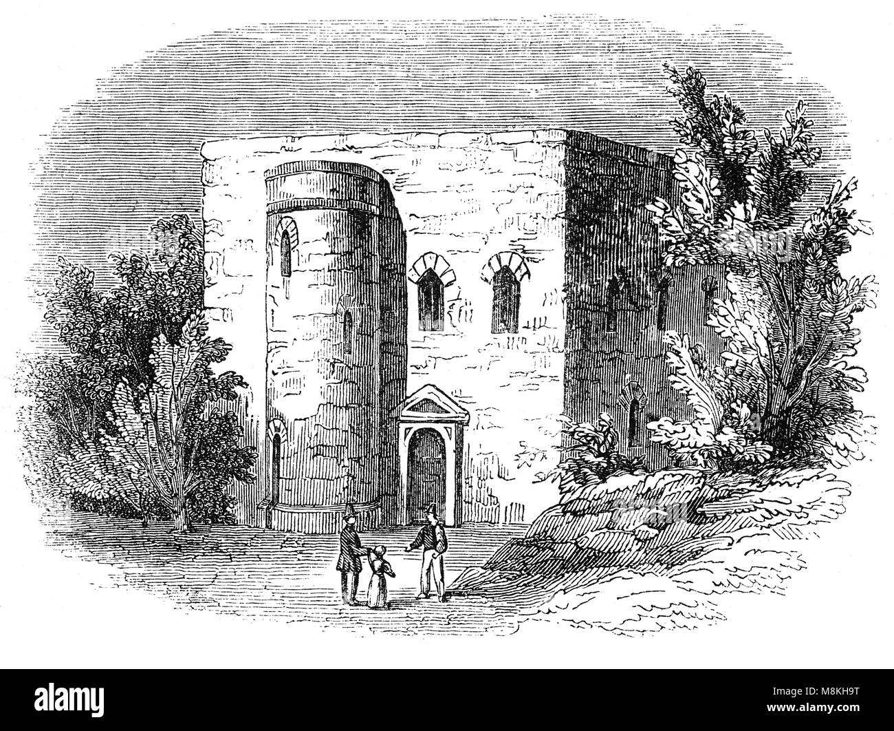 Not far from the Westminster Abbey stood the Sanctuary, a place of refuge, demolished in 1775. It appears that under - Stock Image