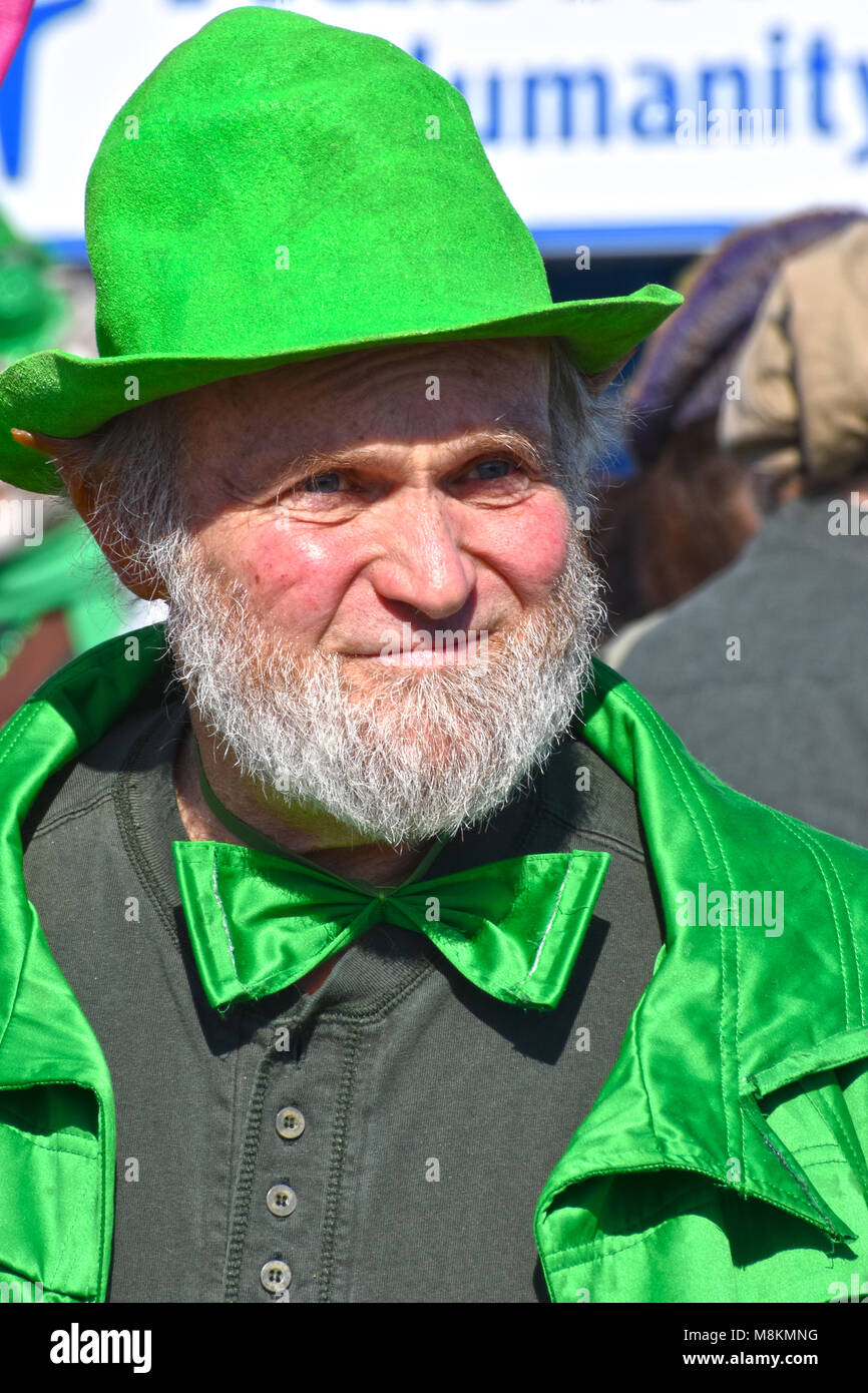 a14c6786832d0 A leprechaun complete with pointed ears at the Bellingham Washington St.  Patrick s Day parade on