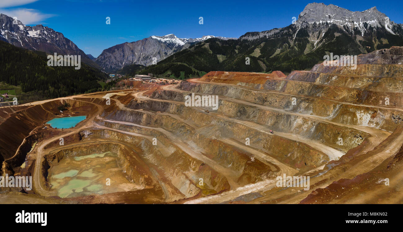 Erzberg Panorama - Stock Image