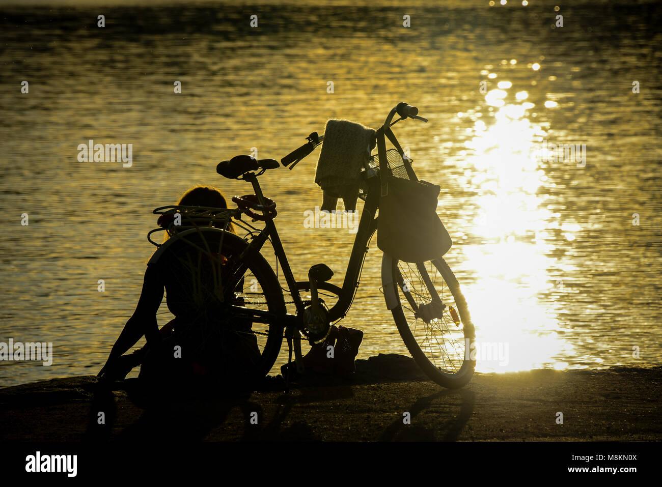 Abendstimmung am Wörtersee - Stock Image