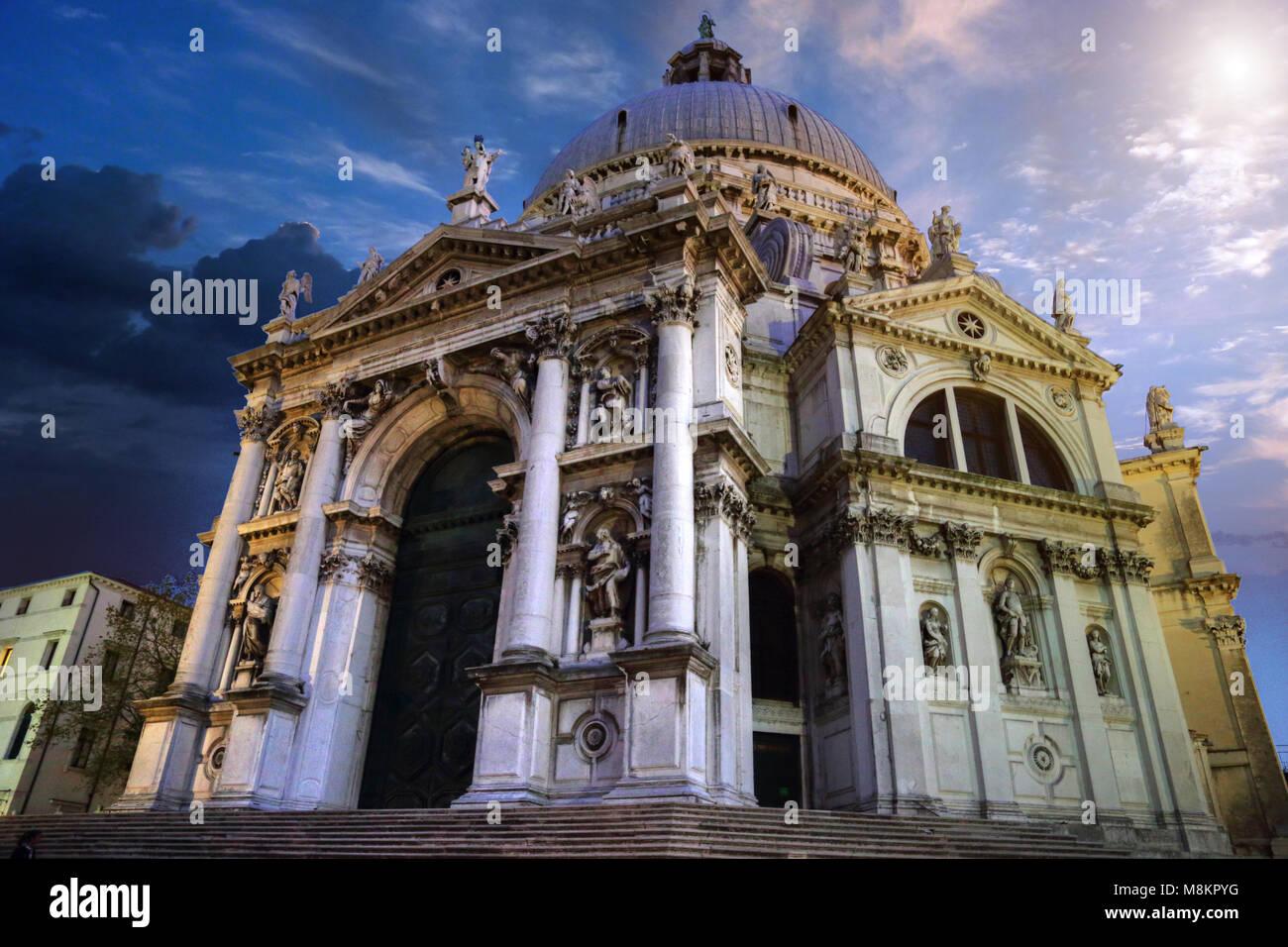 Santa Maria della Salute Cathedral - Stock Image