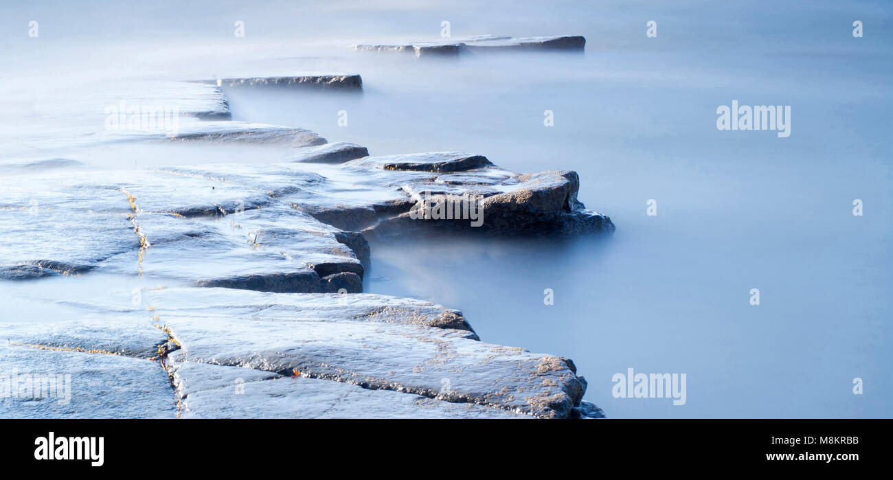Kimmeridge Bay Dorset England - Stock Image