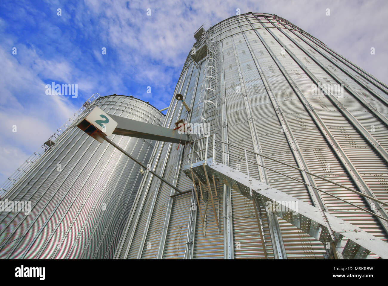 Agricultural Silos in Ontario, Canada - Stock Image