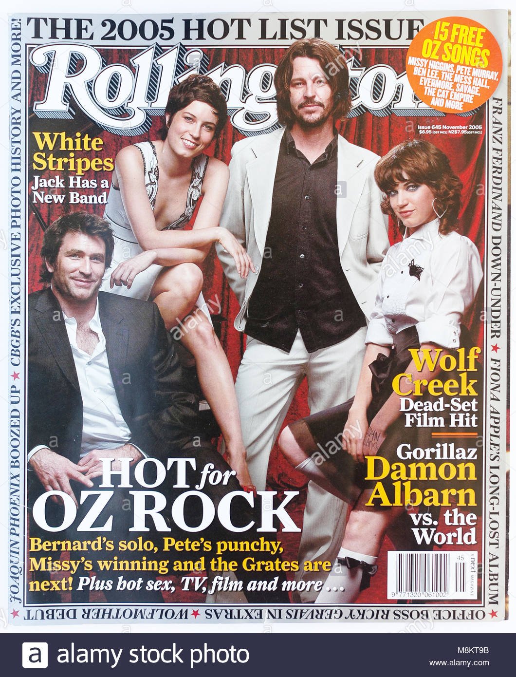 The cover of Rolling Stone magazine, issue 645, Hot for Oz Rock Stock Photo