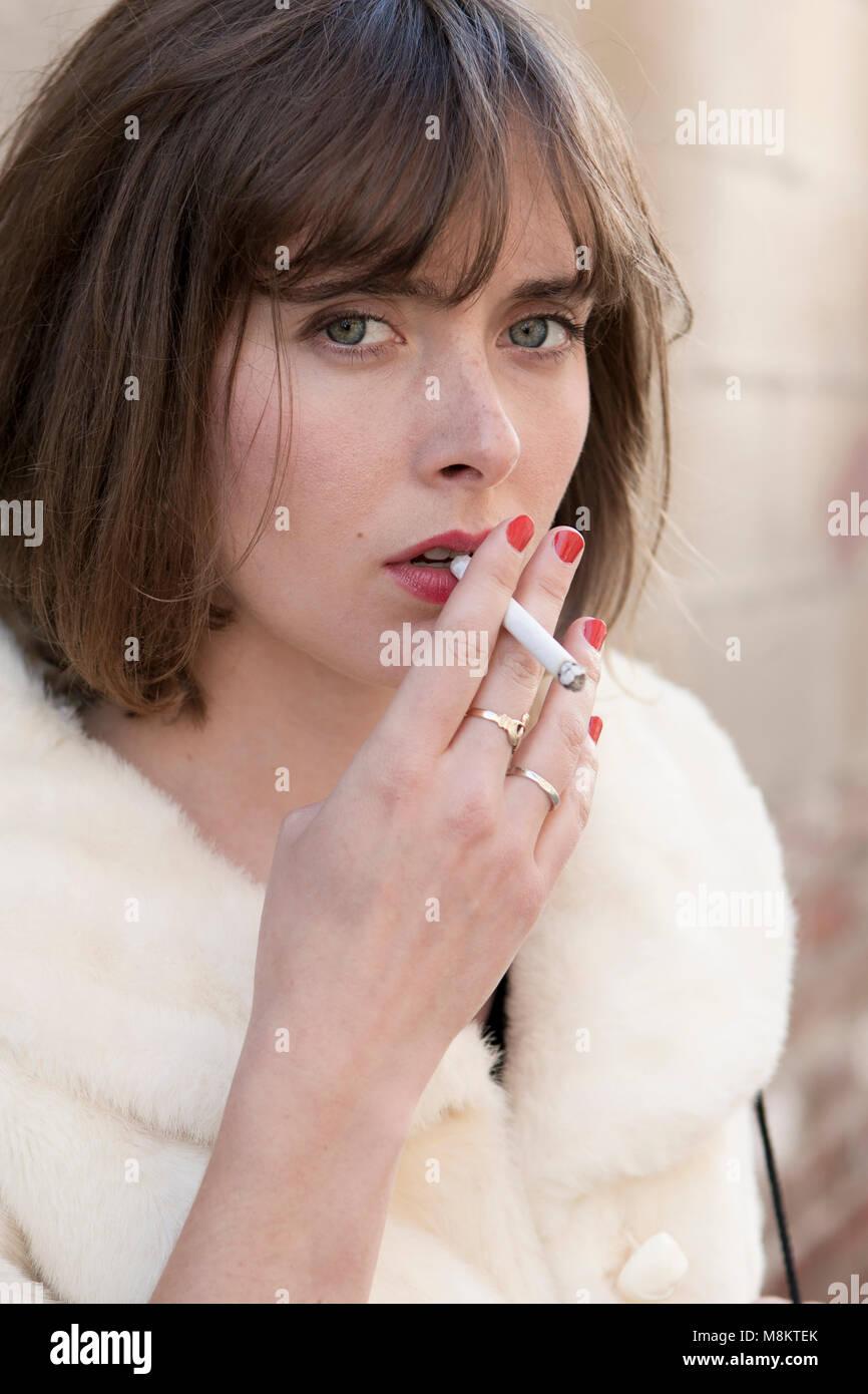 Red lipstick smoking