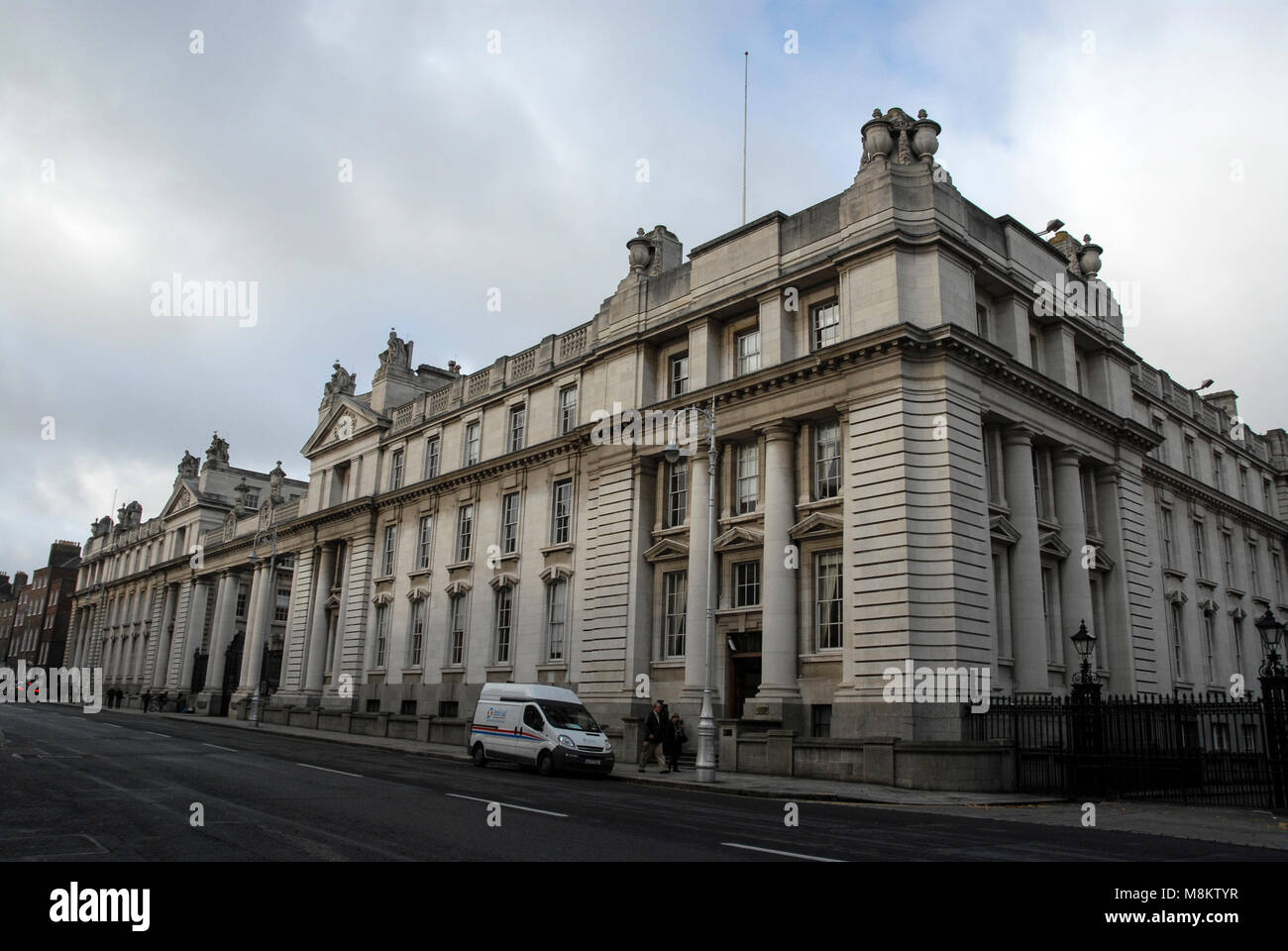 Various Government departments are located in this building next to Lenister House, (Irish Parliament), Dublin Stock Photo