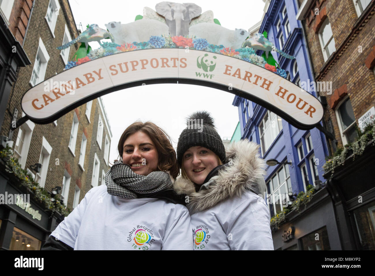 London, UK. 18th March, 2018. Representatives of the Bureau of International Recycling (BIR) launch Global Recycling - Stock Image