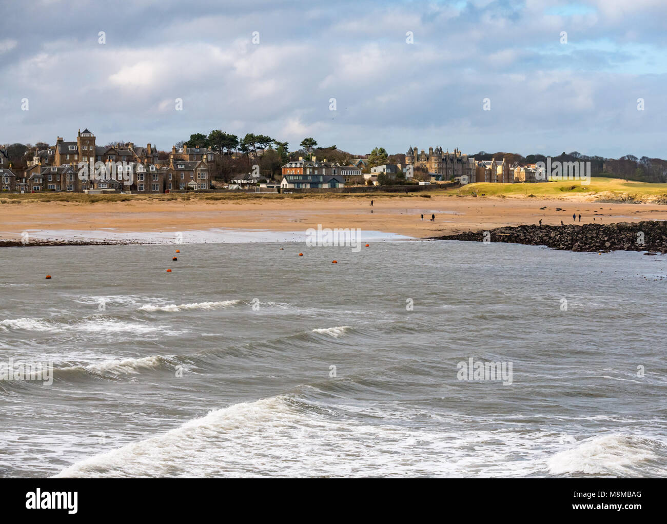 North Berwick, East Lothian, Scotland, United Kingdom, 19th March 2018. Very cold windy morning at the end of the - Stock Image